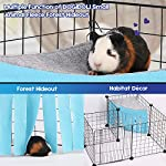 DOGIDOLI Sky Blue, Pink, Purple, Green & Strawberry Red Guinea Pig Hideout, Corner Fleece Forest Hideaway for Guinea Pigs, Ferrets, Chinchillas, Rats, Bunny & Other Small Animals Without Metal Fences 8