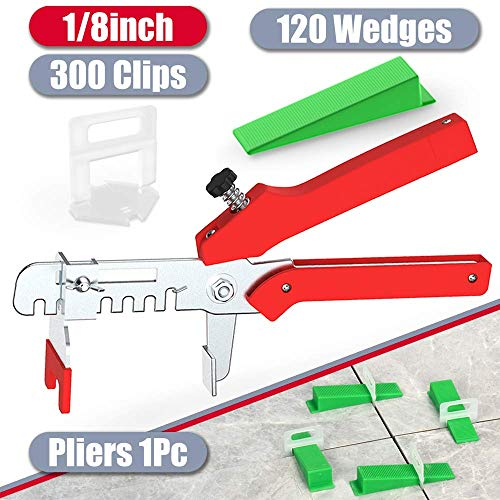YEFU Tile Leveling System 1/8'' Kit Include 300 PCS Tile