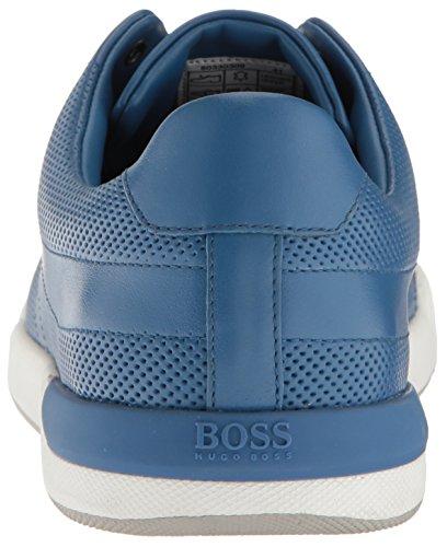 Zapatilla De Deporte De Cuero Perforado Para Hombre De La Zapatilla De Hugo Boss Boss Orange Bright Blue