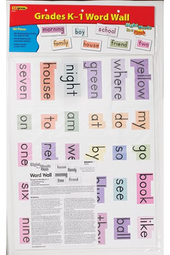 sight words word wall flash cards kindergarten 1st grade literacy
