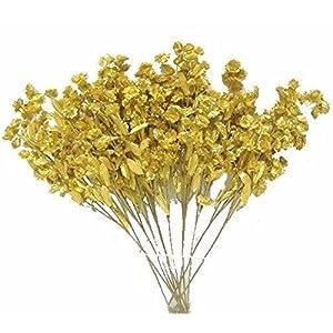 Artificial Garden 12 Baby's Breath Spray Gold Gypsophila Silk Flower Floral Arrangements Wedding Bouquet Flowers Centerpieces 64