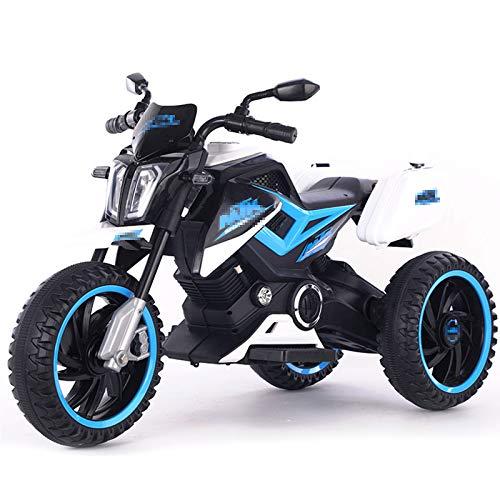 TWW Fahrt Mit Batteriebetriebenem Motorrad Vorwärtsbremse Kinder Elektroroller Fahrzeug Arbeitsscheinwerfer Musik…