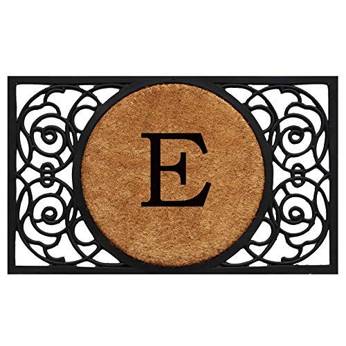 Calloway Mills 180031830E Armada Circle Monogram Doormat, 18 x 30 Letter E