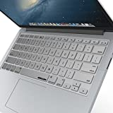 "iBenzer Macaron Series Keyboard Cover Silicone Rubber Skin for Macbook Pro 13"" 15"" 17"" (with or w/out Retina Display) Macbook Air 13"" and iMac Wireless Keyboard - Silver CA-MKC01GY"