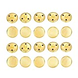 Hestya 20 Pieces Gold Metal Blazer Button Set Vintage Brass Button for Blazer, Suits, Sport Coat, Uniform, Jacket