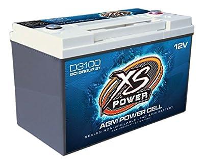 XS Power Battery 1360 Cranking Amps 12 V D-Series AGM Battery P/N D3100