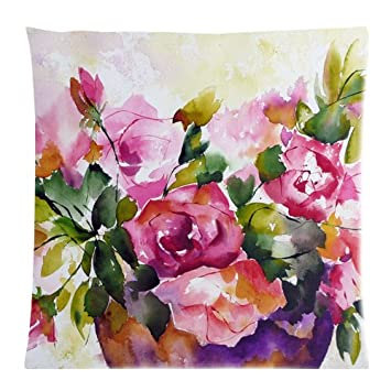 Freestyle Violett Pink Watercolor Spring Flower Tropical