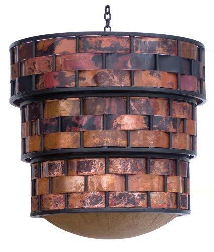 Stone County Ironworks Rushton Copper Strip Chandelier, Gunmetal 207149-OG-142725-O-758695, Gunmetal 207149-OG-142725-O-758695 ()