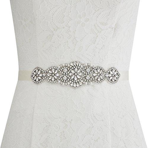 Bridal Women's ULAPAN Sash Pink Crystals S94 Belt Wedding Sash Dress Belt Pearls O00Udq