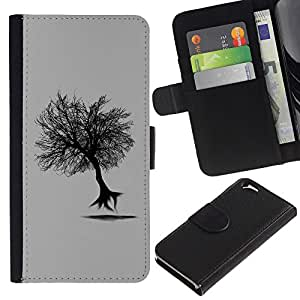 Planetar® Colorful Pattern Flip Wallet Leather Holster Protective Skin Case Cover For Apple (4.7 inches!!!) iPhone 6 ( Flying Tree )