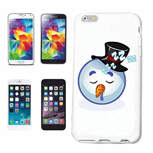 """cas de téléphone iPhone 4 / 4S """"SAD SNOWMAN SMILEY AVEC CHAPEAU """"smile EMOTICON APP de SMILEYS SMILIES ANDROID IPHONE EMOTICONS IOS"""" Hard Case Cover Téléphone Covers Smart Cover pour Apple iPhone en b"""