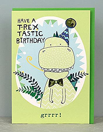 Boys T Rex Dinosaur Birthday Cards By Molly Mae TS25 Amazoncouk Office Products