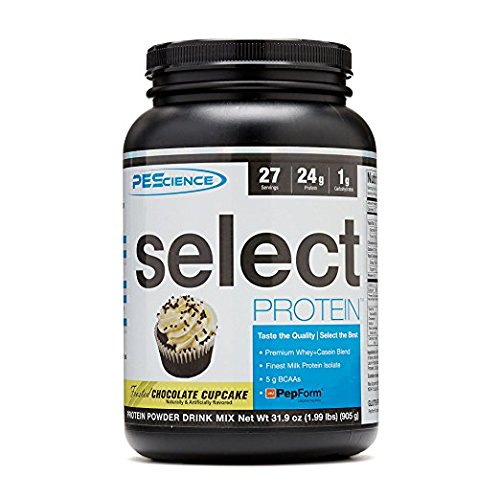 PEScience Select Protein, Frosted Chococlate Cupcake, 27 Serving, Premium Whey and Casein Blend