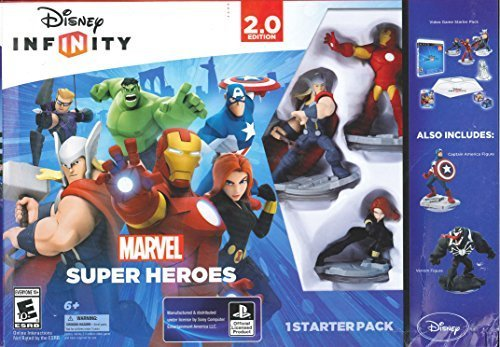 Marvel Universe Xbox 360 - Disney Infinity Marvel Super Heroes 2.0 XBox 360 with *Captain America & Venom Figure* Starter Pack