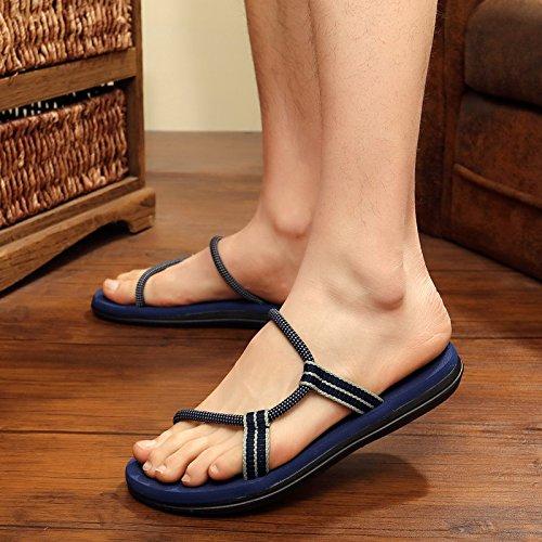 Antiscivolo Pantofole Scuro Personalizzato Scarpe Uomini Fankou Estate Raffreddare 44 Maschio Blu Per Sandali Spiaggia Di E Le Trascinare Da Maschio Esterno 7nqpdRwdx