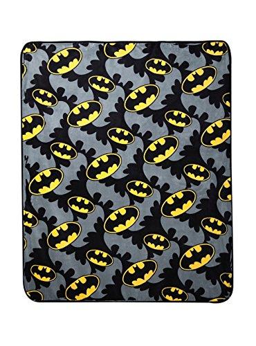 DC Comics Batman Logos Plush Throw Blanket