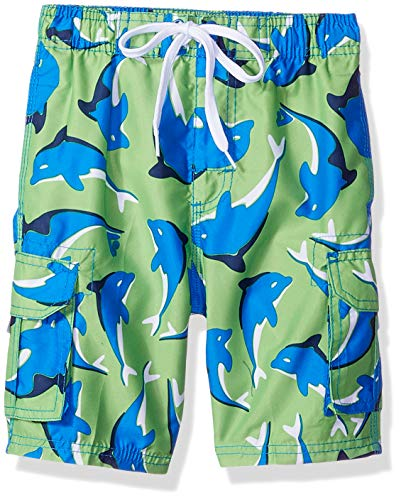 - Kanu Surf Big Boys' Troy Quick Dry Beach Swim Trunk, Dolphin Green/Royal, Large (14/16)