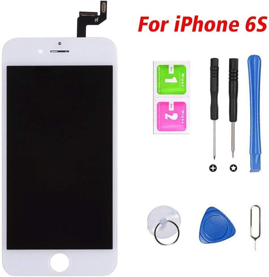 Hoonyer Pantalla para iPhone 6s Pantalla táctil LCD Kit de Pantalla de Repuesto Ensamblaje de Marco Digitalizador Herramienta de reemplazo de conversión Completa(4.7