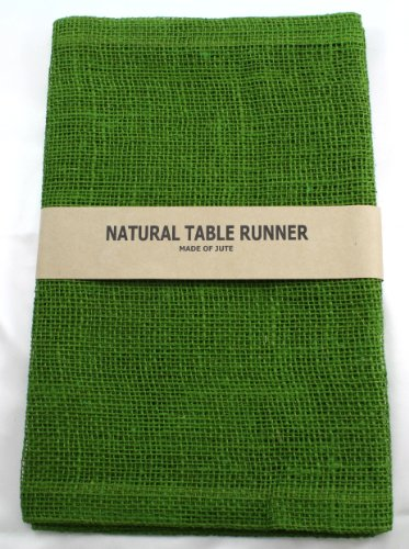 Kel-Toy Burlap Jute Table Runner/Fold and Sew Edge, 14 by 72-Inch, Olive (Runner Sew Table)