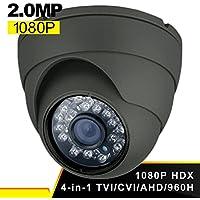 Security Camera, Savvypixel 1080P 4 in 1 TVI/CVI/CVBS/AHD Dome Camera, Waterproof outdoor / Indoor Day & Night Vision 3.6mm Lens Surveillance Cameras for CCTV Camera System