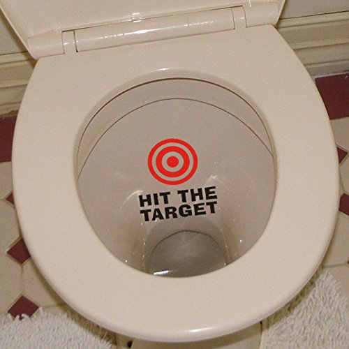 hit the target waterproof funny toilet sticker Bathroom wall