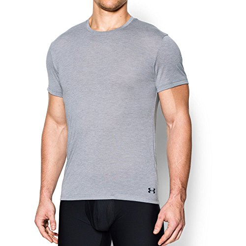 Blossom 702 (Under Armour Men's Core Crew Undershirt, True Gray Heather (025)/Stealth Gray, Small)