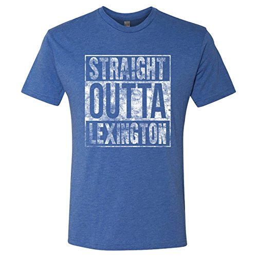UGP Campus Apparel Straight Outta - Playera de fútbol de Tres Mezclas, Lexington Vintage Royal, Medium