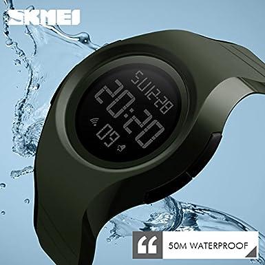 Amazon.com: Mens Fashion Sport Quartz Watch Black Reloj Deportivo para Hombres: Watches