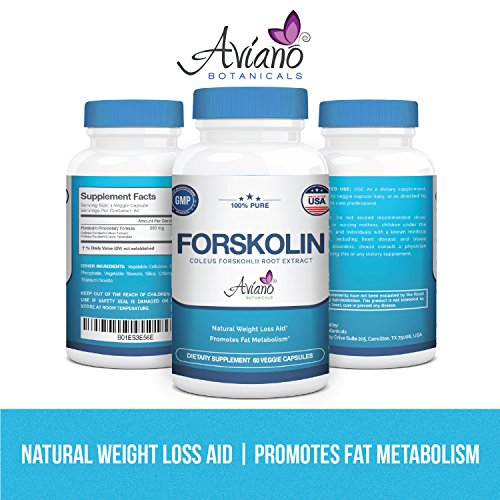 Aviano Botanicals Forskolin Extract Weight Loss Supplement - 60 Veg Capsules