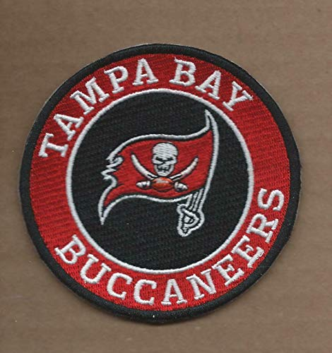 New 3 1/2 INCH Tampa Bay Buccaneers Iron ON Patch -