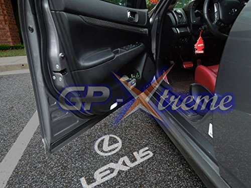 GP XTREME Lexus Ghost Shadow Welcome Led Door Projector Courtesy Logo white Footwell Step Lights For IS 250//IS250C//IS350//LS 460L//LX 570//GX 400//LS430 2005
