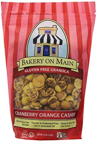 Bakery On Main Gluten Free Granola, Cranberry Orange Cashew, 12-Ounce Bags (Pack of 6) by Bakery On Main