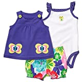 Carter's Baby Girl's Oh-So-Fun 3-Piece Set - Butterfly & Flowers