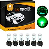 LED Monster 6 x T5 5 SMD Green + 6 x T5 Twist Lock Instrument Panel LED Light Gauge Cluster Dashboard Indicator Lamp Bulb with Twist Sockets for GMC Savana 1500 2500 3500 Yukon XL 1500