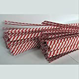 Weststone 2000pcs 7'' Paper Red Stripe Twist Ties