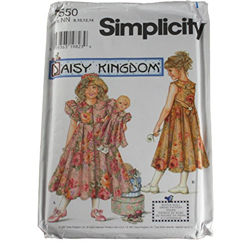 Simplicity 7550 Sewing Pattern Daisy Kingdom Child for sale  Delivered anywhere in USA