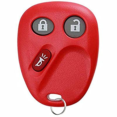 KeylessOption Replacement 3 Button Keyless Entry Remote Control Key Fob -Red: Automotive