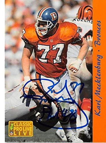 newest 9d15e b410f Karl Mecklenburg autographed football card (Denver Broncos ...