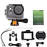 Acouto Wifi Waterproof Camcorder 12MP 4K HD Sport Cammera 2 Inch Screen 140 Degree Ultra Wide Angle Len with Waterproof Housing Accessories Kits