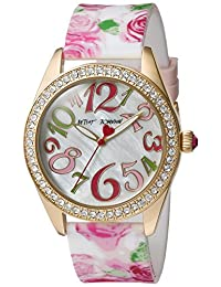 Betsey Johnson Women's BJ00048-180 Floral Printed Silicon Strap Watch