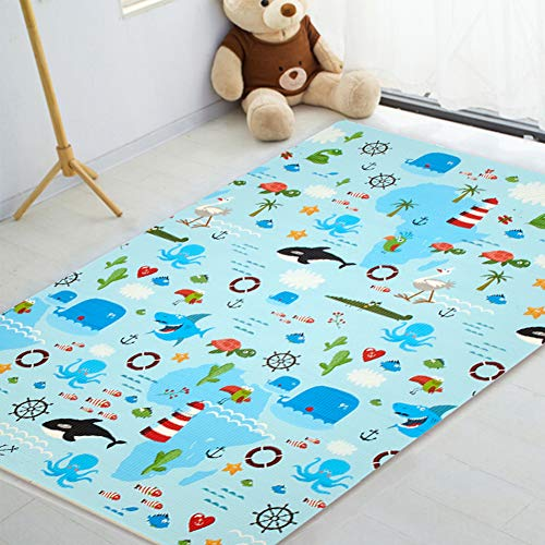 Baby Play Mat, XPE Foam Double Sided Floor Mat Soft Anti-Skid Large 79