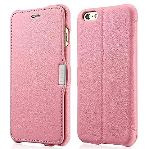 iPhone 6s Plus / 6 Plus Case, Benuo [Litchi Pattern Series] Folio Flip Genuine Leather Case [Card Holder] with Magnetic Closure for Apple iPhone 6 Plus / iPhone 6s Plus 5.5 inch (Iphone6 Plus Case Card Holder)