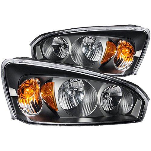 Anzo 121221 Chevrolet Malibu Black Clear Headlight Assemb...