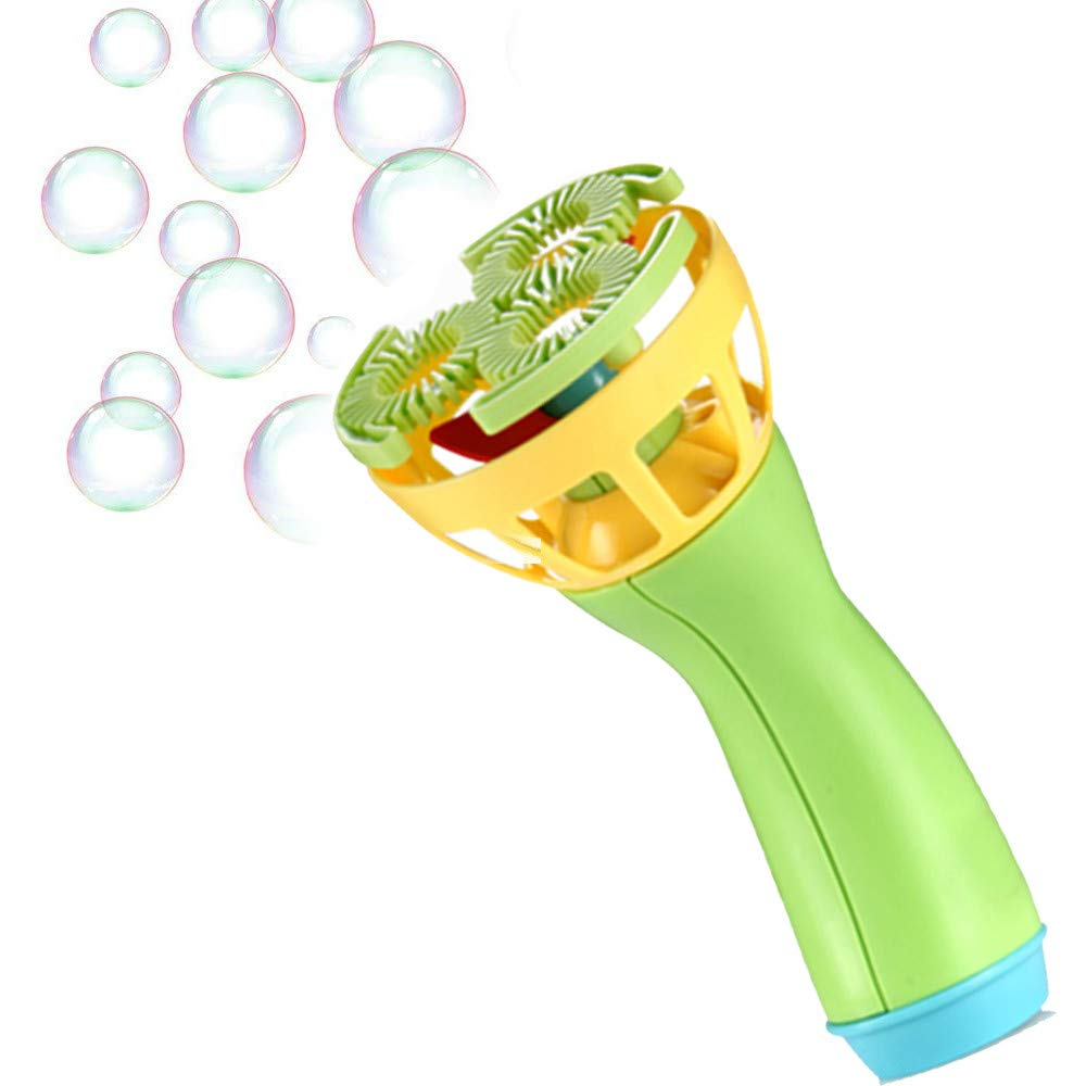 Kanzd Electric Bubble Wands Machine Bubble Maker Automatic Blower Outdoor Toy for Kids (Green)