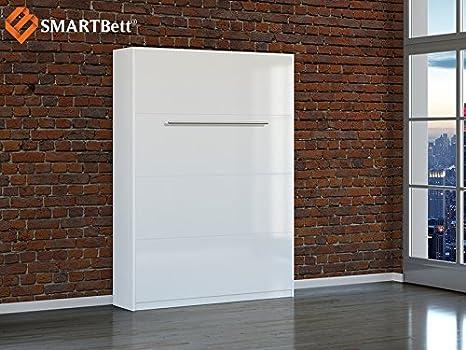 Letto A Scomparsa Verticale Fai Da Te : Smartbett letto a scomparsa verticale cm bianco lucido