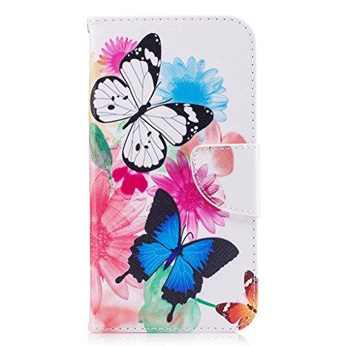 Trumpshop Smartphone Carcasa Funda Protección para Sony Xperia L1 + Girasol + PU Cuero Caja Protector Billetera con Cierre magnético Choque Absorción Mariposa Doble