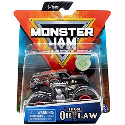 Monster Jam 2020 Iron Outlaw & One MJ Sticker (Styles Vary) 2 Items Bundle: Toys & Games