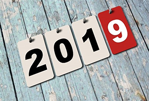 Used, AOFOTO 6x4ft 2019 Calendar on Wooden Board Backdrop for sale  Delivered anywhere in USA