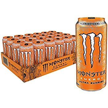 Amazon com : Monster Energy Ultra Black, Sugar Free Energy Drink, 16