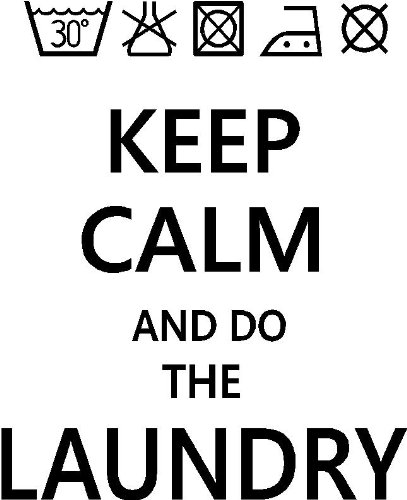 Keep Calm And Do The Laundry Funny Cute Home Vinyl Wall Quotes Decals  Sayings Art Lettering